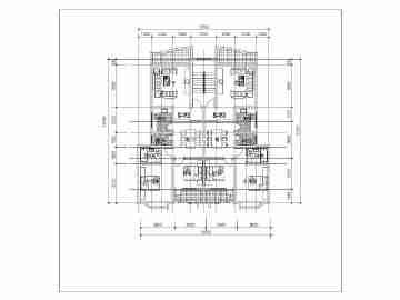 某住宅小区各种类型一梯两户户型设计图