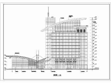 青岛某地框架结构多功能车站建筑设计图