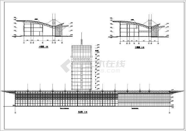 青岛某地框架结构多功能车站建筑设计图图片3