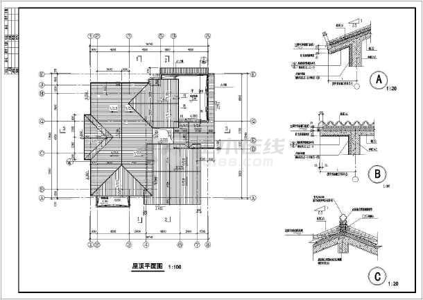 某小区两层园林式风格别墅建筑设计施工图