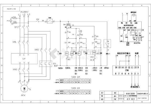 海利普变频器控制4kw风机原理图图片