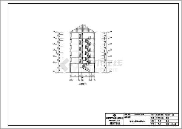 某地区六层砖混结构住宅楼建筑设计方案图纸
