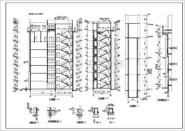 荆州市某地七层框剪结构人民医院住院大楼建筑设计施工图纸图片