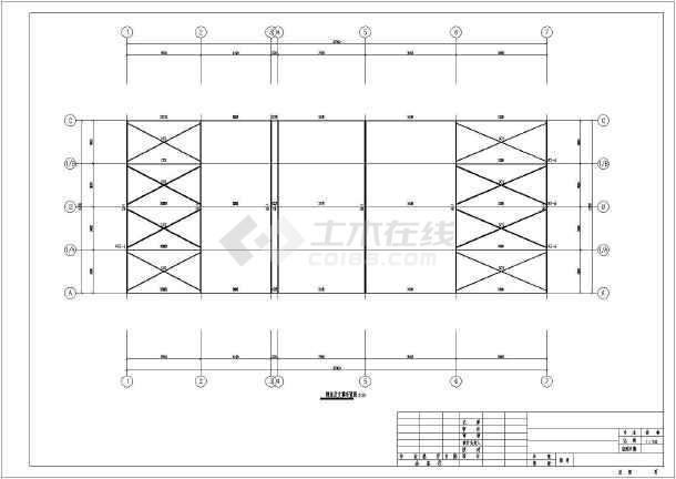 单层轻钢屋盖结构水电站厂房结构施工图