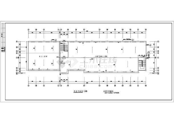 某地多层框架结构物业用房游泳馆建筑设计施工图图片