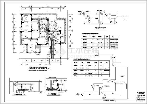 图纸 暖通设计图 通风除尘 地下室通风设计施工图 【保定】住宅楼地下