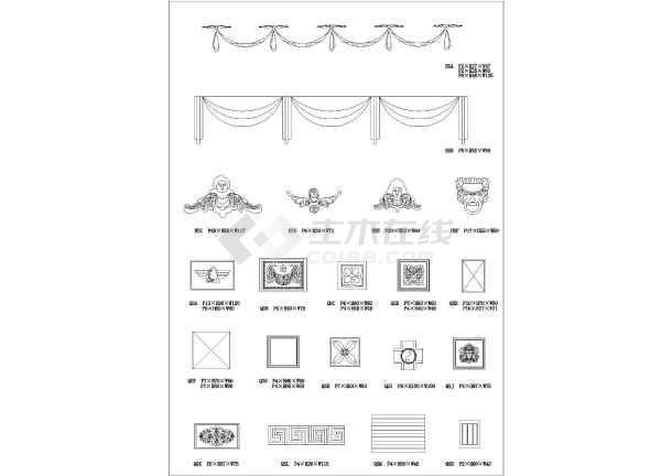 欧式建筑设计图的线条图库cad版本图片
