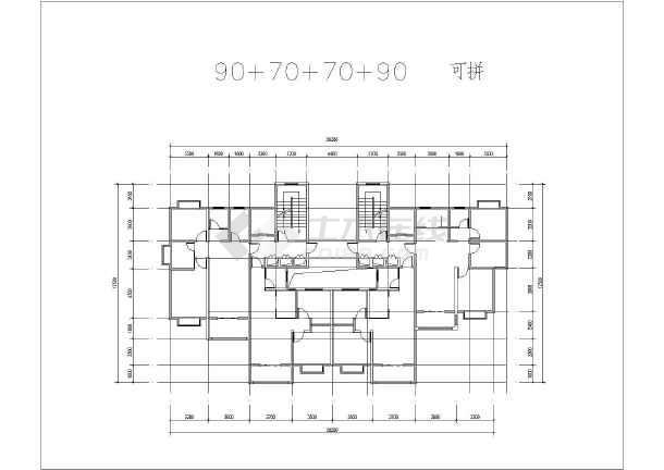 拆迁小区安置房户型图建筑设计方案图