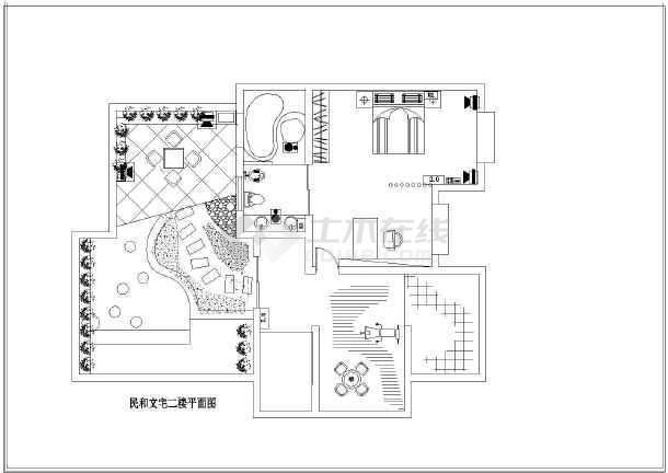 某地民和楼中楼室内装修设计平面图纸