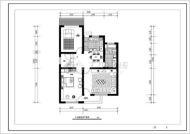 某二层别墅建筑设计图两种方案(长12米 宽9米)图片