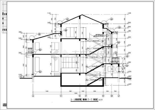 【汉口】某独立别墅建筑施工图设计