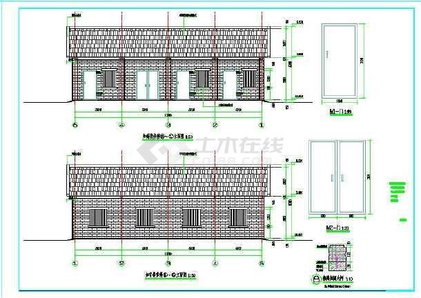 一层砖木结构建筑楼结构设计图-图1
