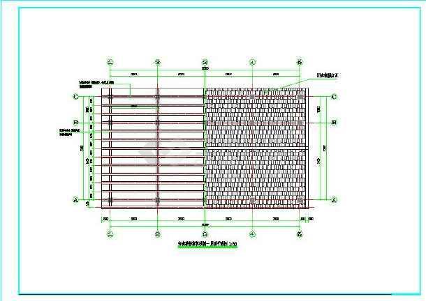 一层砖木结构建筑楼结构设计图-图2