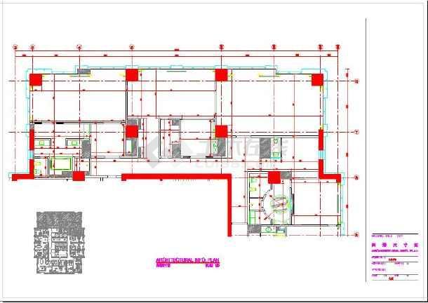 五星酒店总统套房装修设计cad平面施工图