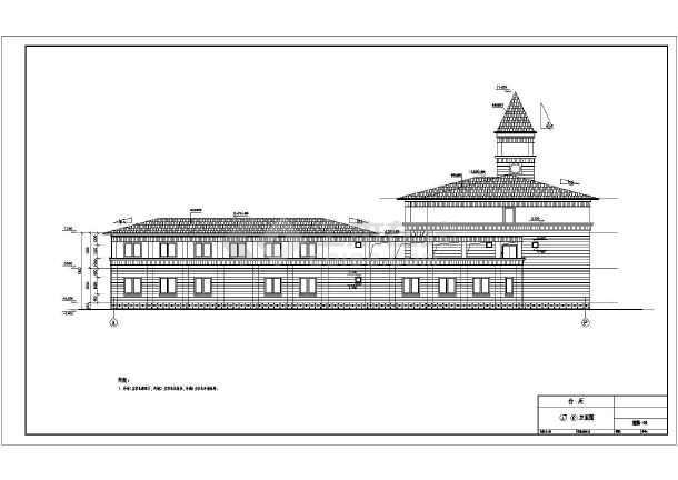 三层欧式风格综合办公楼建筑设计施工图