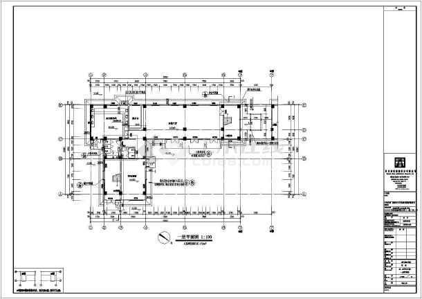 某地2栋两层框架结构商业古建筑设计施工图纸