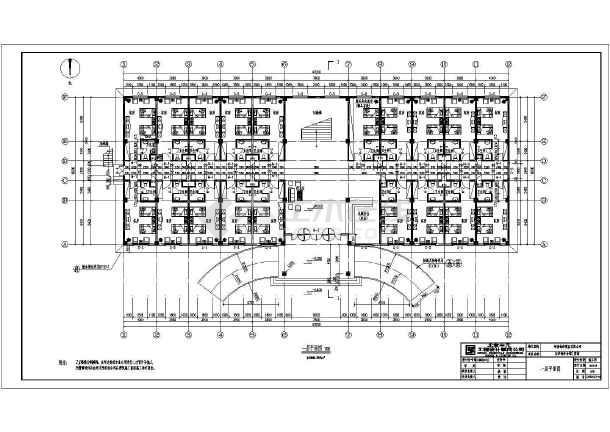 郑州市某地3层框架结构欧式宾馆建筑设计施工图纸
