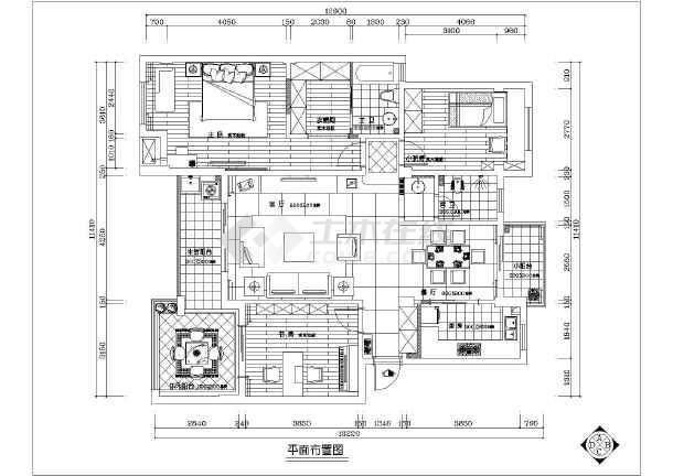施工图  简介:本套家装图纸包含有:原始结构图,平面布置图,隔墙布置图