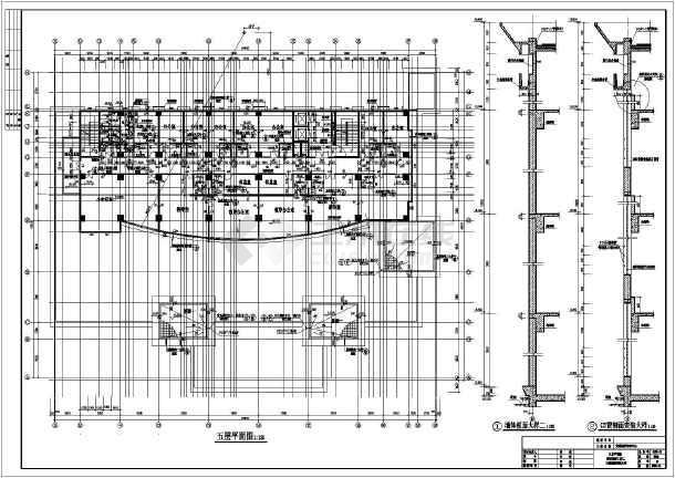 某市21层混凝土框架结构办公综合楼建筑施工图纸