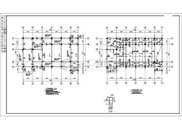 某地二层框架结构房屋结构设计施工图