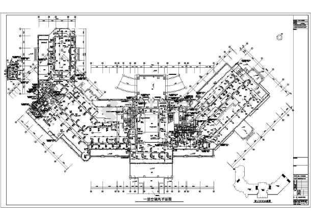 图纸 暖通设计图 中央空调 酒店宾馆空调设计图 大型酒店海鲜城海水源