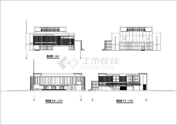 【浙江】某三层大剧院建筑方案设计图纸创越平面设计工作室图片