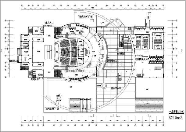 【浙江】某三层大剧院建筑方案六合无绝对纸ui网站设计师图片