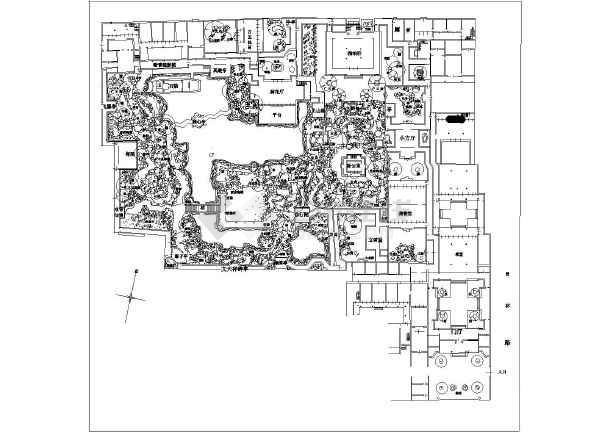 苏州狮子林园林景观规划总平面图纸图片1