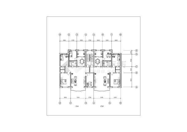 民用居住住宅设计经典一梯两户方案集