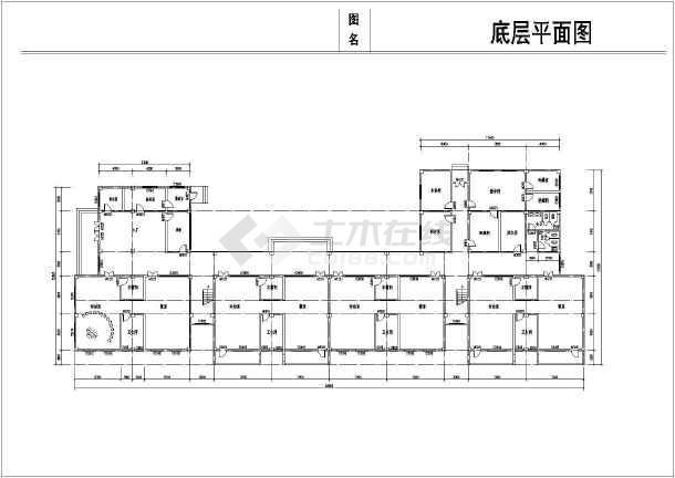 某乡镇3层幼儿园建筑设计平面方案图图片