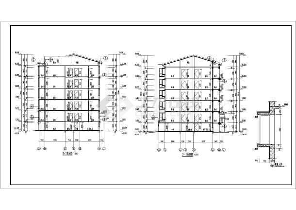 某小区五层带阁楼住宅楼建筑设计施工图
