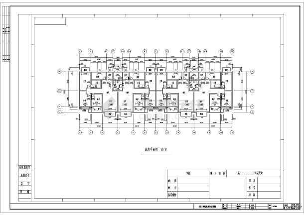 某五层单元住宅平面图