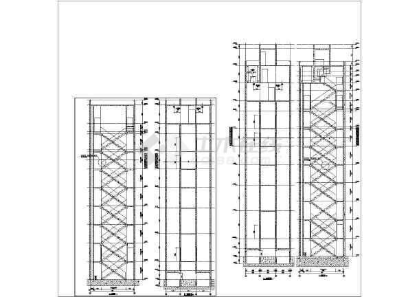 一般图纸建筑图绘制(通用图)_cad图纸下载-土fanucv图纸电梯数控子弹图片