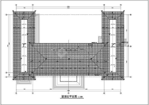 某地三层坡屋顶办公楼建筑施工设计图纸