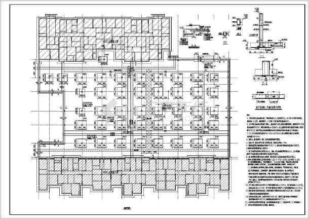 某小区住宅楼地下车库框架结构施工图