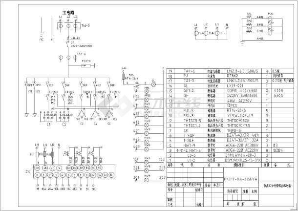 低压无功补偿接线图 低压无功补偿控制器接线图