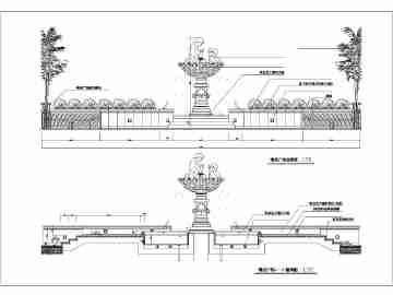 园林水景工程施工图图片