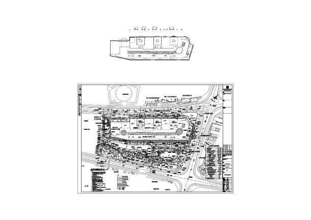 万达广场总平面与道路竖向规划设计图
