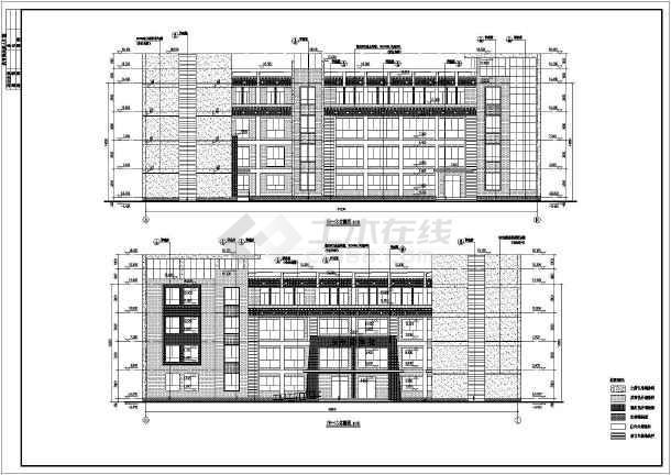 图纸 建筑图纸 教育建筑 中学教学楼设计图 某地4层框架藏式综合教学图片