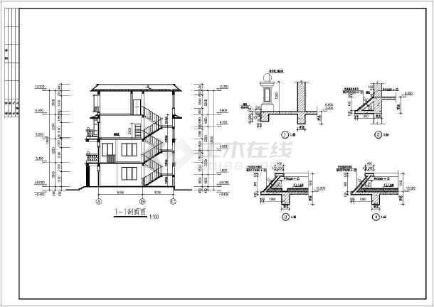 本工程为私人住宅;主体为地上四层框架结构;总建筑面积为488.图片