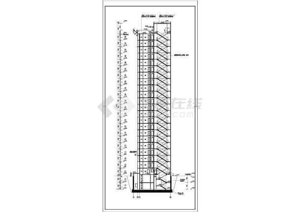 某军区钢筋混凝土剪力墙结构宿舍楼建筑施工图