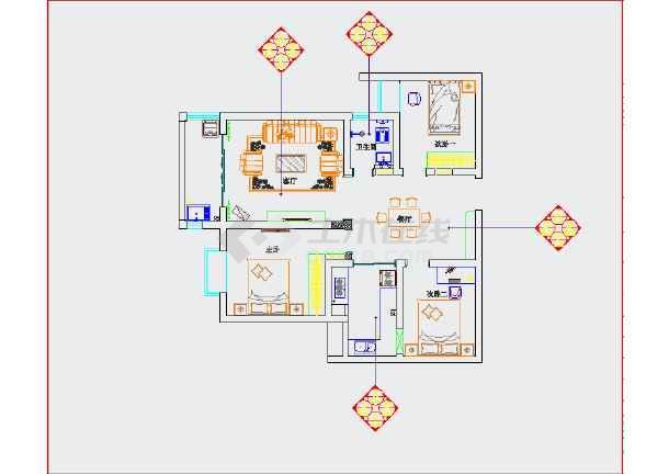 家装设计 两室一厅装修图 【四川】乐山王先生别墅家装修施工图  投稿