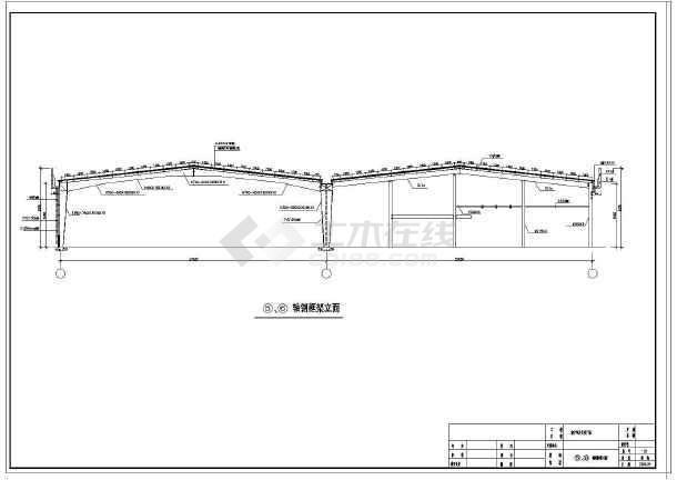 某小型汽车展厅工程结构设计施工图图片3