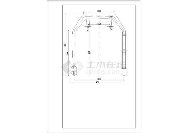 某地区基础洞内小龙隧道cad设计图怎么绘制两阶v基础门吊图片