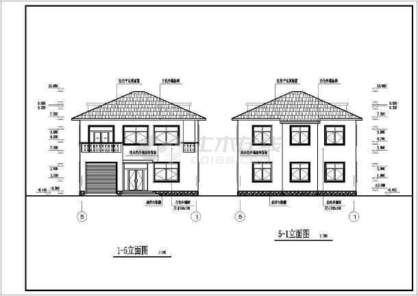 简洁实用二层农村房屋建筑设计图纸