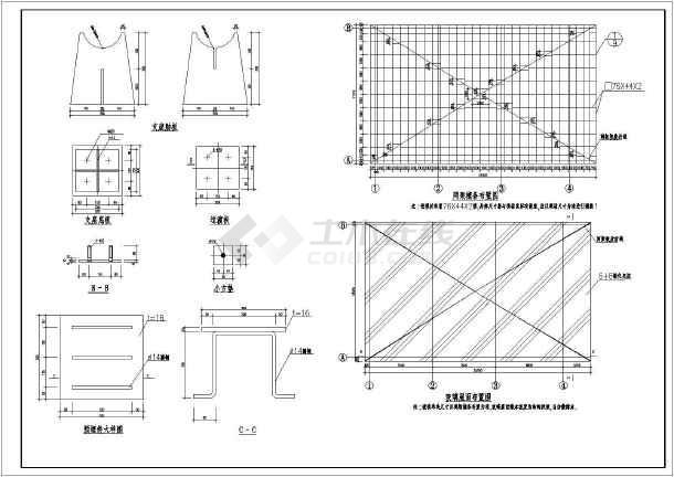 某工程玻璃屋面网架结构设计施工图