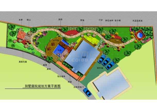 某别墅庭院规划平面图图片