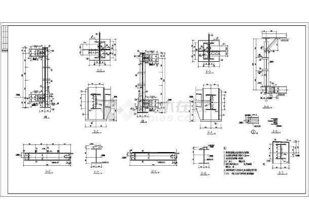 某走廊钢皮带煤矿图纸结构设计施工图_cad图中联重科180桁架搅拌机图片