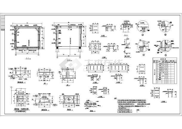 某桁架钢预算图纸煤矿结构设计施工图_cad图走廊皮带与招标管理软件图片