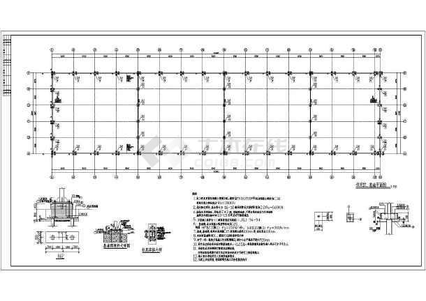 某地30米厂房钢管尺寸桁架施工图_cad图纸下地砖贴铺图纸结构图片